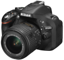 Nikon D5200, 18-55mm VR II Kit, 24.1 MP, Nero