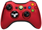 MICROSOFT Xbox 360 Wireless Chrome Controller, rot